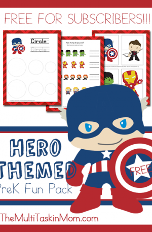 Hero Themed PreK Fun Pack