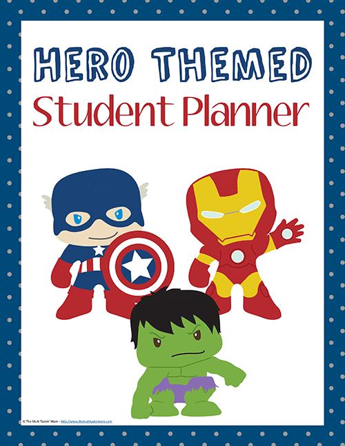 Hero Themed Student Planner