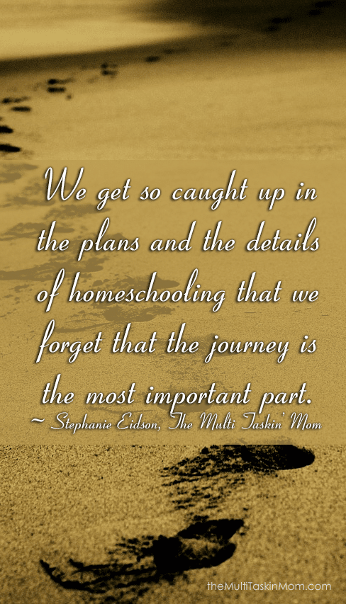 Homeschooling is about the journey not the destination