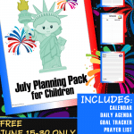 FREE July Children's Planning Pack