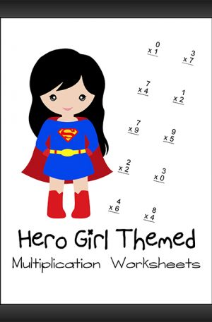 Hero Girl Themed Multiplication