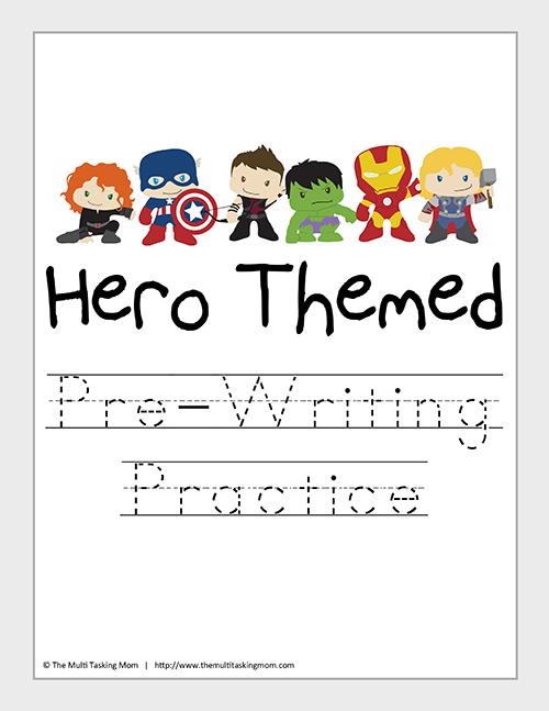 Hero Themed Pre-Writing