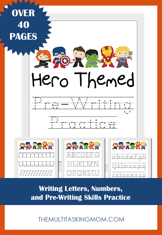 Hero Themed Pre-Writing Practice