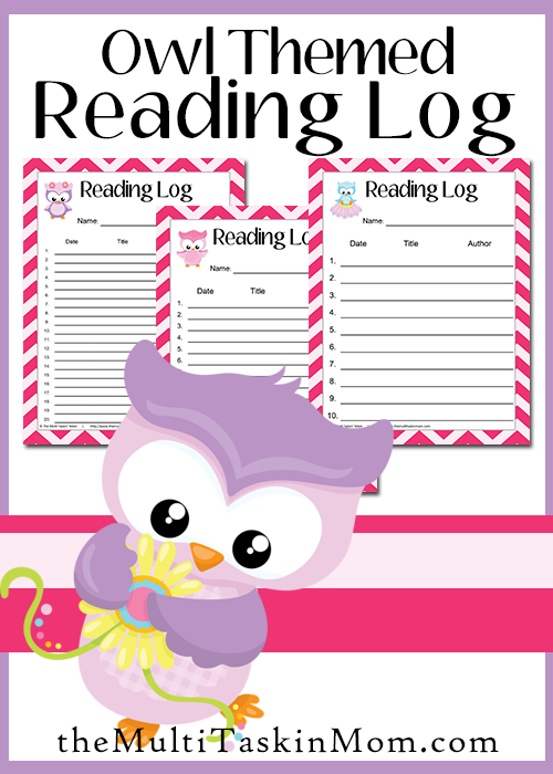 Owl Themed Reading Logs FREE