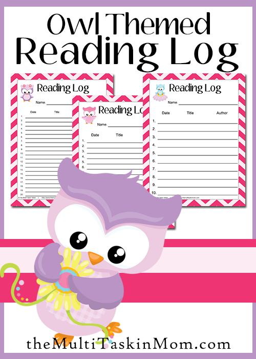 Owl Themed Reading Logs