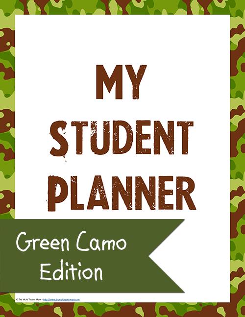 Student Planner - Green Camo