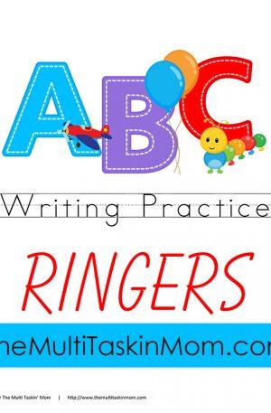ABC Writing Practice Ringer