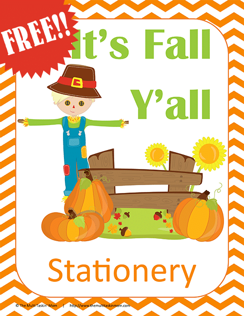 Fall Stationery FREE!