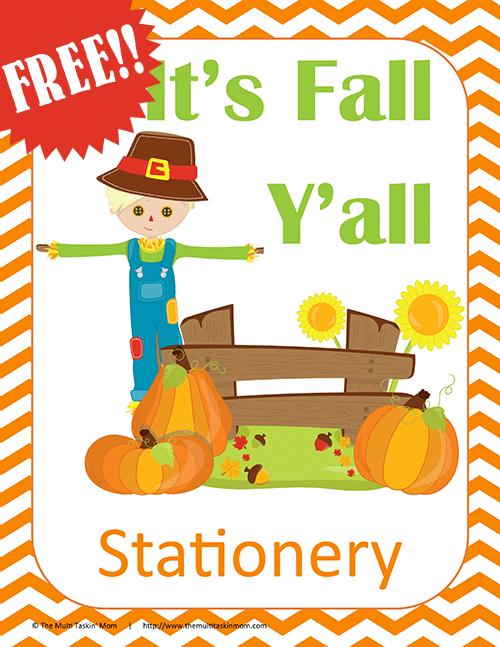Fall Stationery FREE!