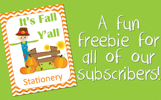 FREE Fall Stationery