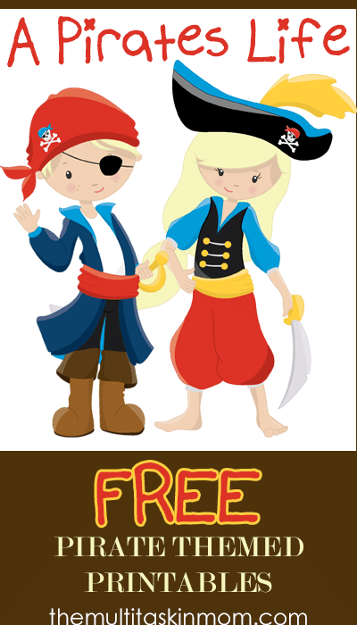 image relating to Pirates Printable Schedule referred to as A Pirates Daily life Free of charge Pirate Themed Printables - The Multi
