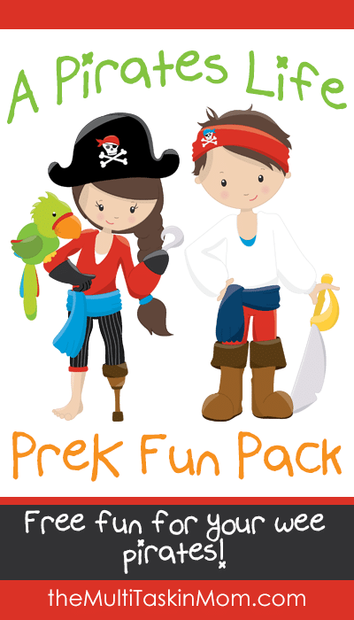 A Pirates Life PreK Fun Pack FREE for your wee pirates