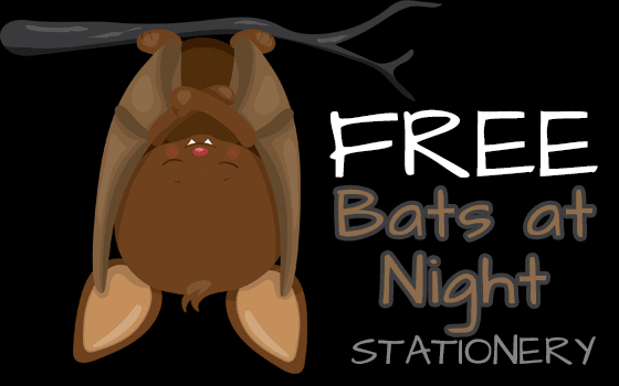Bats at Night Stationery