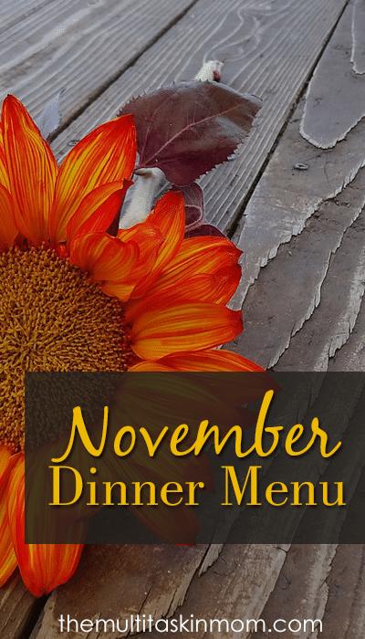 November Dinner Menu
