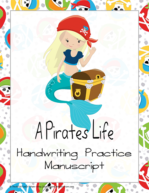 Pirate Manuscript Handwriting Practice thumb