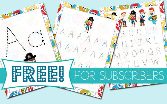 FREE A Pirates Life Manuscript Handwriting Pack