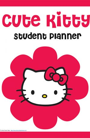 Cute Kitty Student Planner