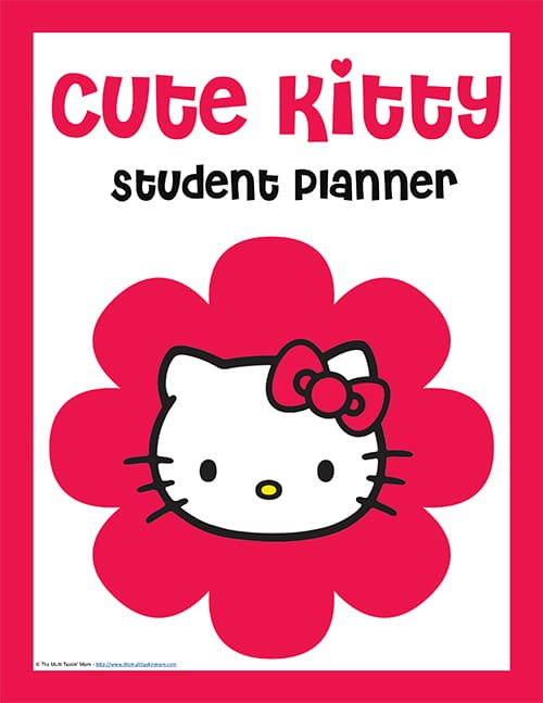 Student Planner - Cute Kitty-1