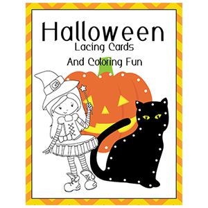 Halloween Lacing Cards