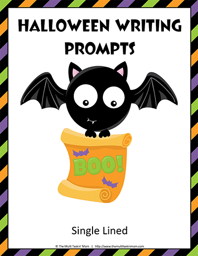 Halloween Writing Prompts Single Lined thumb