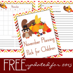 2015 November Planning Pack for Children