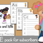 FREE Cookies and Milk Handwriting Practice