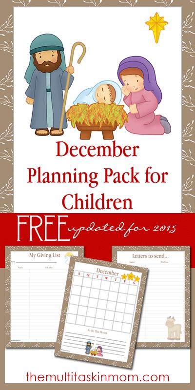 December Planning Pack New for 2015