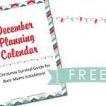 December Planning Calendar