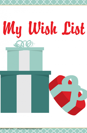 Printable Wish Lists