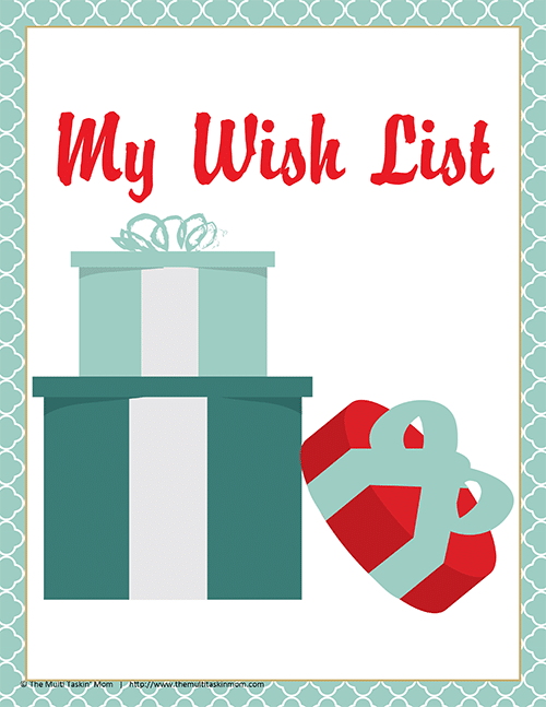 Printable Wish Lists