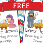 Nativity Themed Handwriting Practice