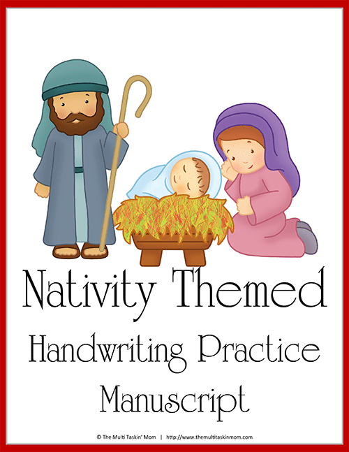 Nativity Themed Handwriting Practice-1