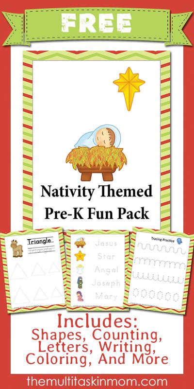 Nativity Themed PreK Fun Pack Free