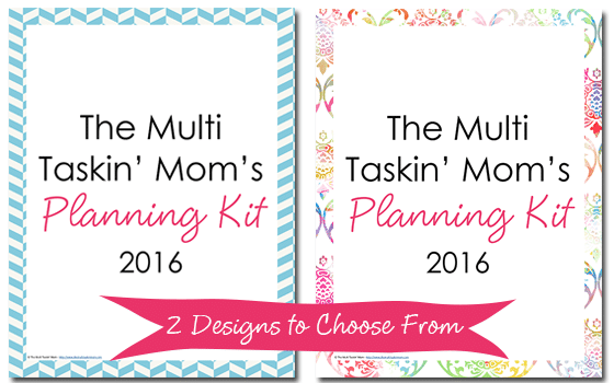 2016 Planning Kit from The Multi Taskin' Mom