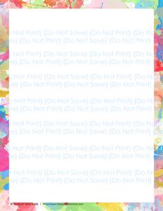 Blank Page Sample
