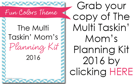 Fun Colors Themed 2016 Planning Kit from The Multi Taskin' Mom