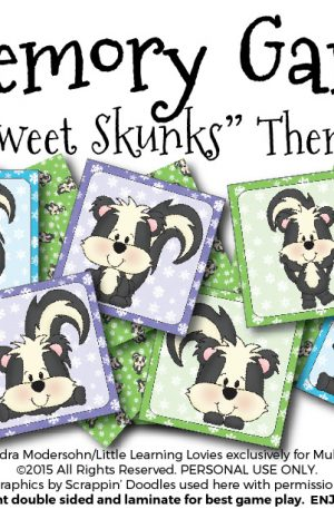 Sweet Skunks Memory Game
