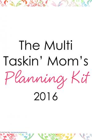Watercolors Planning Kit 2016
