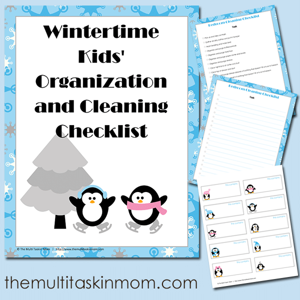WIntertime Kids Organization and Cleaning Checklist FREE