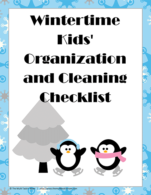 Wintertime Kids Organization and Cleaning Checklist-1