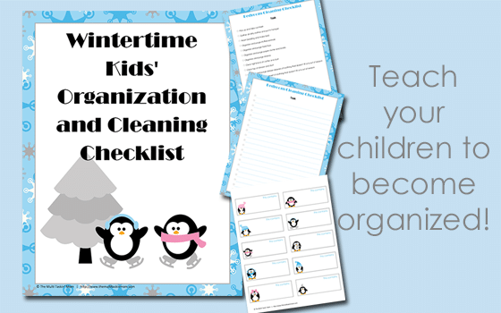 Wintertime Kids Organization and Cleaning Checklist