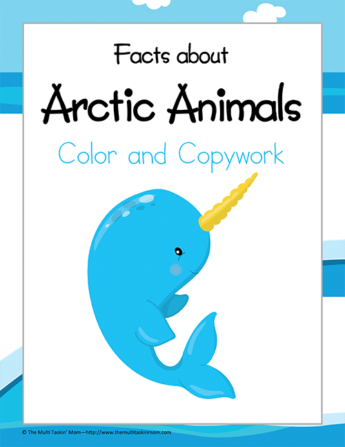 Color and Copywork: Facts about Arctic Animals Update