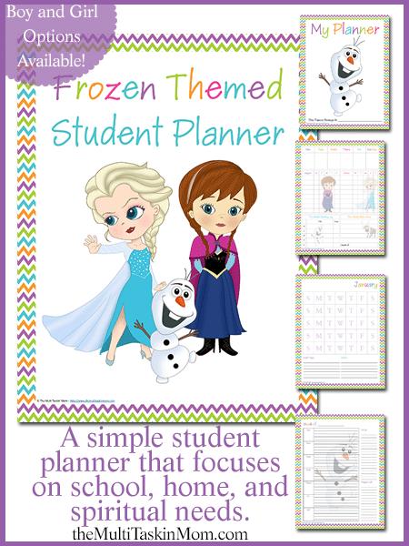 Frozen Student Planner2