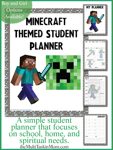 Minecraft Themed Student Planner