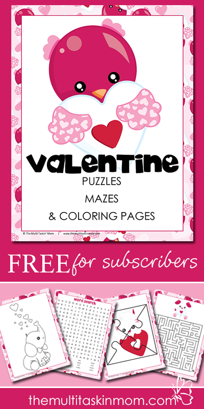 Valentines Day Puzzles Mazes Coloring Pages and More for FREE
