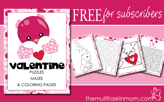 Valentines Day Puzzles, Mazes, and More