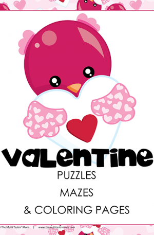Valentines Day Puzzles Mazes and More