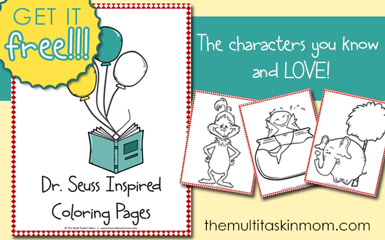 Free Dr Seuss Inspired Color Pages The Multi Taskin Mom