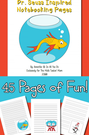 Dr. Seuss Notebooking Pages