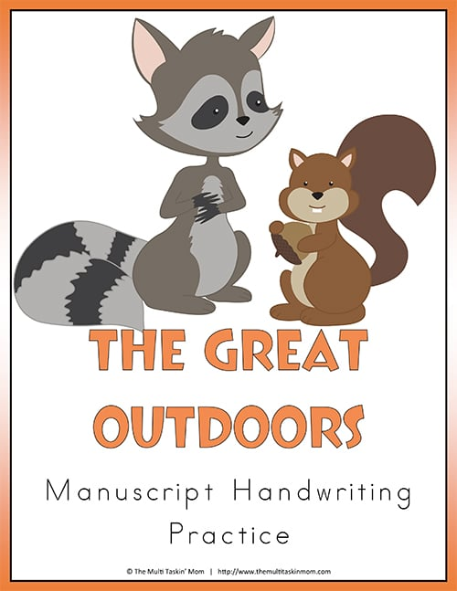 The Great Outdoors Handwriting Practice Manuscript-1